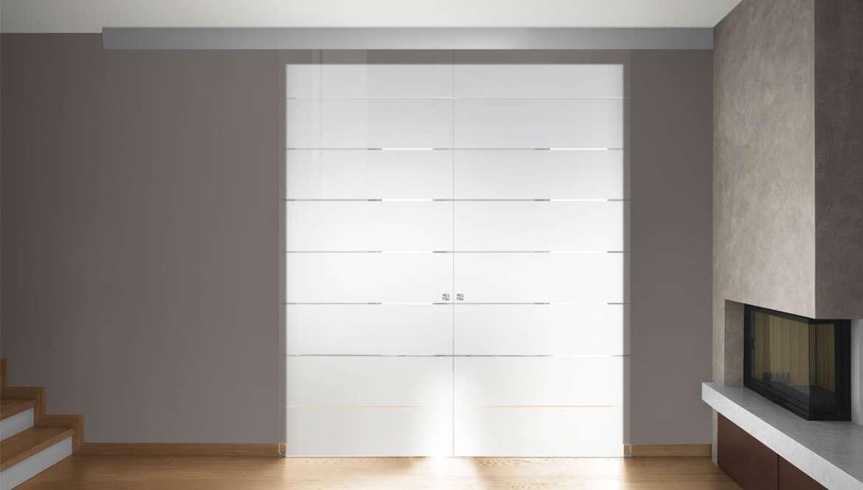 Porta Legno Con Vetro Satinato: Porta scorrevole in vetro satinato ...