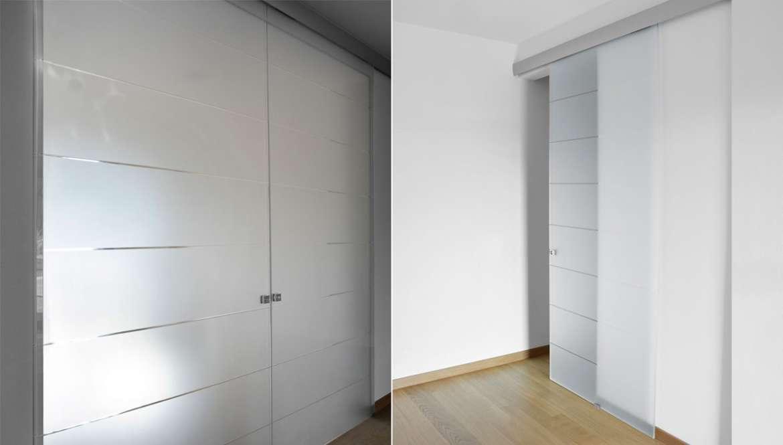 Porte in solo vetro design unico di owl glass - Porta scorrevole vetro satinato ...